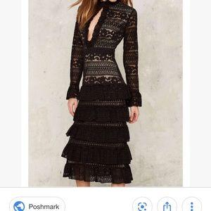 Nastygal lace dress
